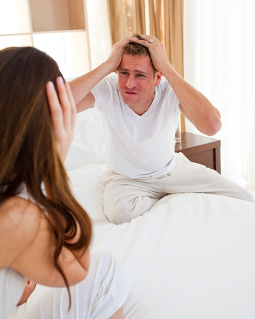 resentful: Resentful couple having an argument Stock Photo