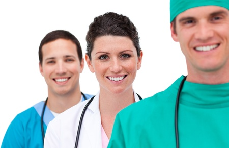 Portrait of a mixed medical team Stock Photo - 10095970