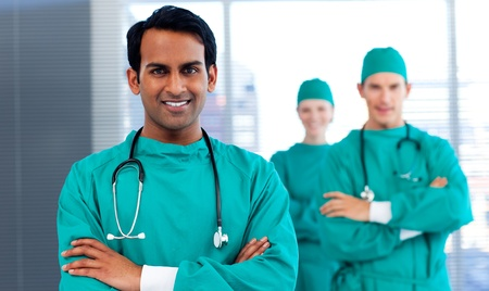 A group of surgeons showing diversity  photo