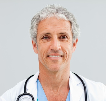 Close up of a happy senior Doctor photo