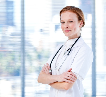 Portrait of a charismatic female doctor Stock Photo - 10106265