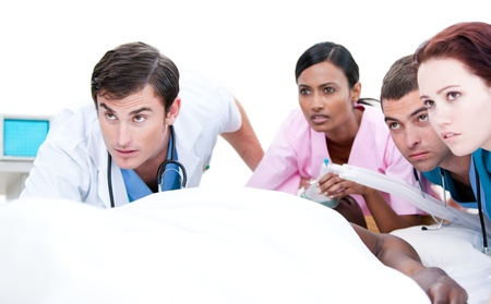 Medical team during an operation Stock Photo - 10106350