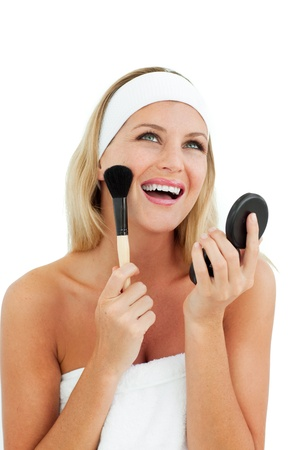 Sparkling woman putting on make-up Stock Photo - 10106747