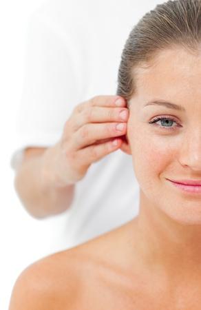 Beautiful woman having a head massage Stock Photo - 10106414