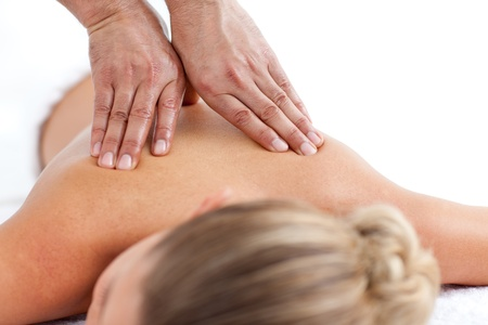 Beautiful woman receiving a massage Stock Photo - 10106972