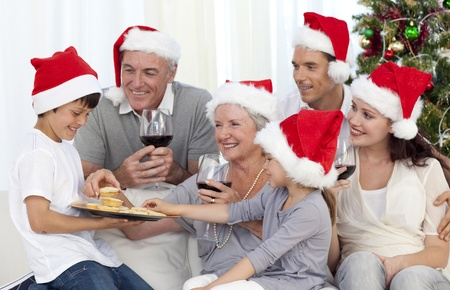 Happy family at Christmas time Stock Photo - 26705188