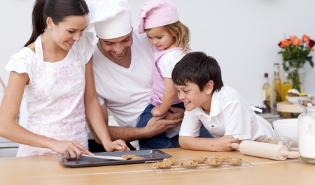 Family baking in the kitchen Stock Photo - 10112139