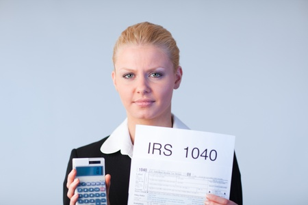 Filling in tax returns Stock Photo - 10111639