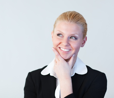 Young Businesswoman thinking  photo