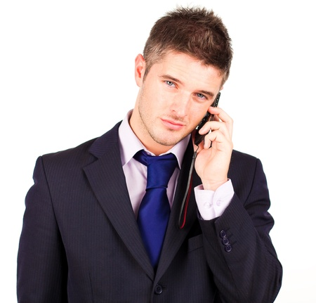 businessman talking on phone  photo