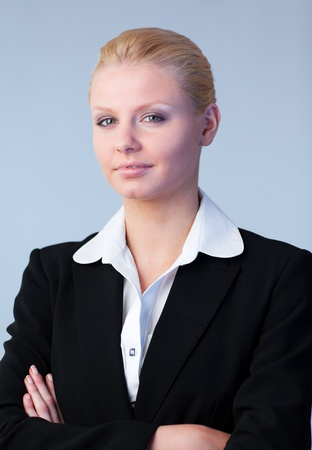 Business woman with folded arms photo