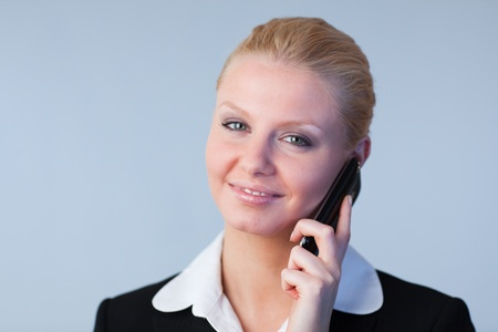 Businesswoman on the phone photo
