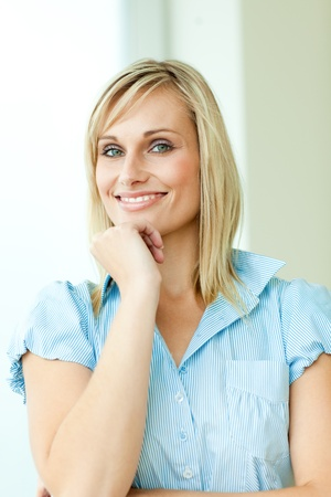 Businesswoman with blond hair photo