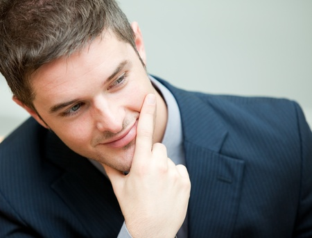 Young interesting businessman  photo