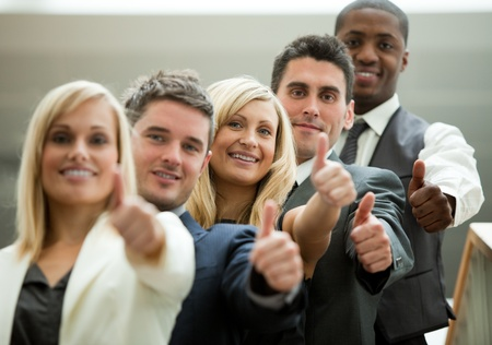 Businesspeople with fists in front Stock Photo - 10112582