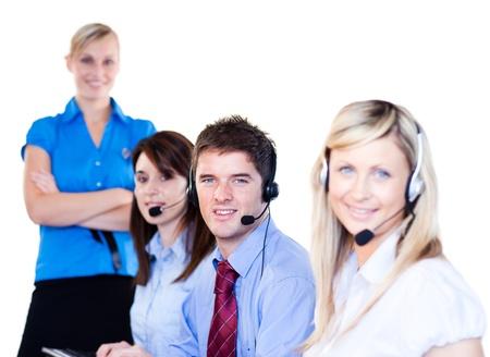 Group of operators Stock Photo - 10110933