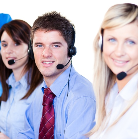 Young  businessman with his colleagues Stock Photo - 10108879