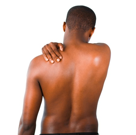 Man with backpain photo