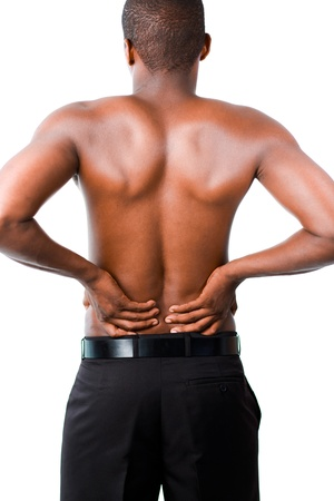 Man with backpain Stock Photo - 10112238