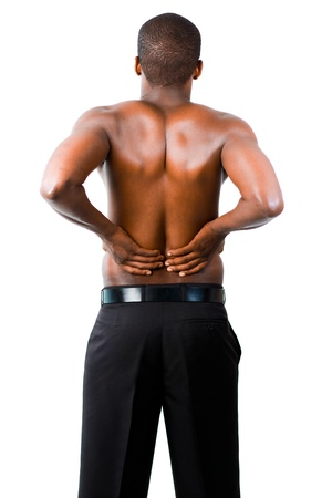 backpain: Man with backpain