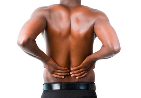 dolor muscular: Hombre con espalda