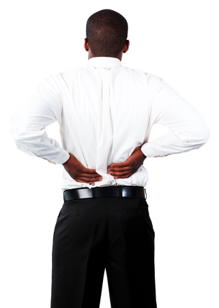 Muscular man with backpain Stock Photo - 10108989