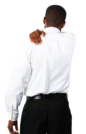 Muscular man with backpain Stock Photo - 10108595