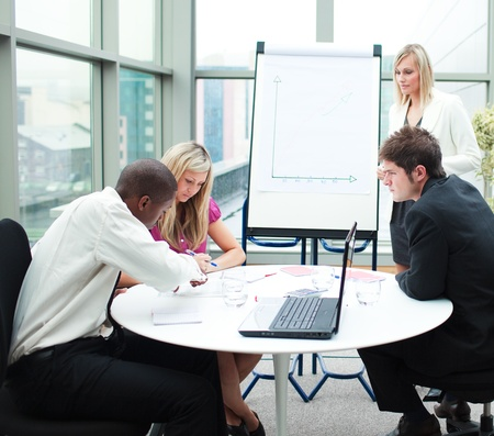 Business people working together in a meeting Stock Photo - 10110159