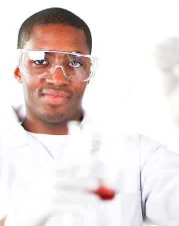 Man conducting science research photo