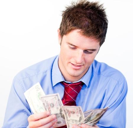 contando dinero: Macho contando dinero