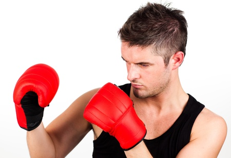 portrait of a young athletic man with boxing Stock Photo - 10112442