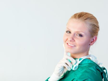 Female Surgeon smiling photo