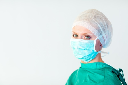 looking towards camera: surgeon looking towards camera  Stock Photo