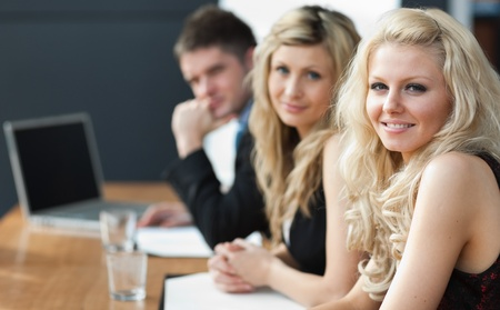 Business team happy wotking together Stock Photo - 10110067