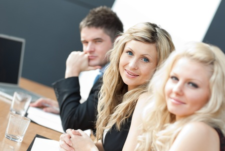 Business team happy wotking together Stock Photo - 10108952