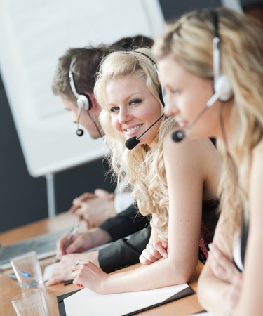 Business team in a call center Stock Photo - 10109526