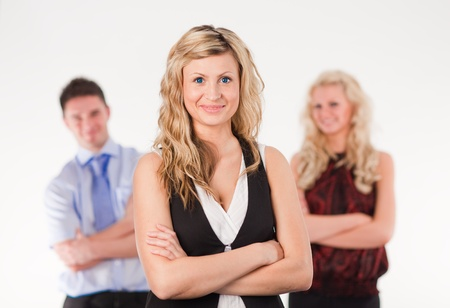 Female Business woman with arms Folded Stock Photo - 10110907