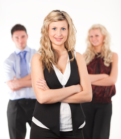Female Business woman with arms Folded Stock Photo - 10111276