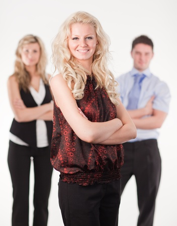 Female Business woman with arms Folded Stock Photo - 10112016