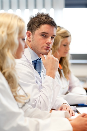 Team of doctors at a meeting Stock Photo - 10111194