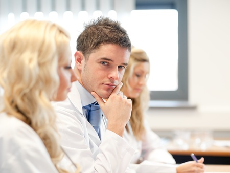hospital: Team of doctors at a meeting