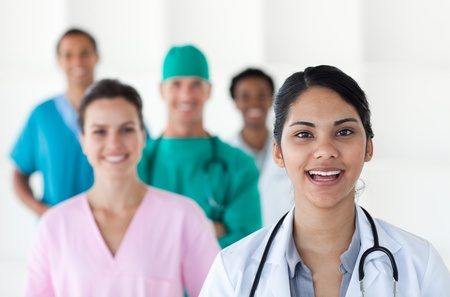 Female doctor smiling at the camera  photo