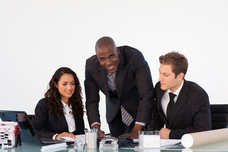 Businessteam discussing a new plan Stock Photo - 10115253