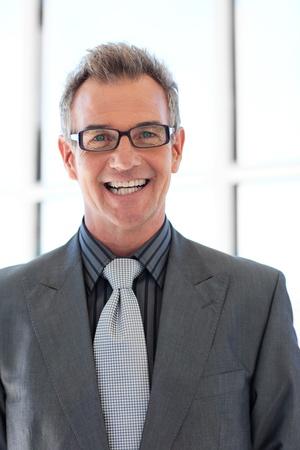 Smiling senior businessman  photo