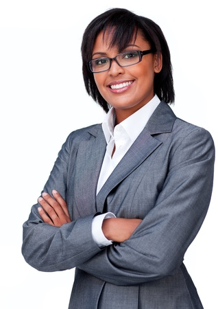 wearing glasses: Confident businesswoman wearing glasses