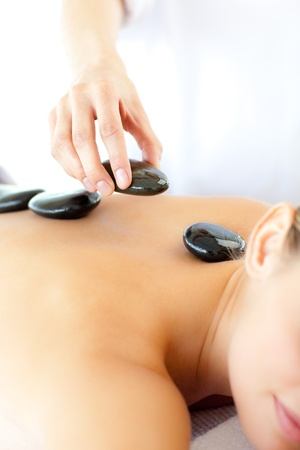 Delighted woman having a massage Stock Photo - 10114207