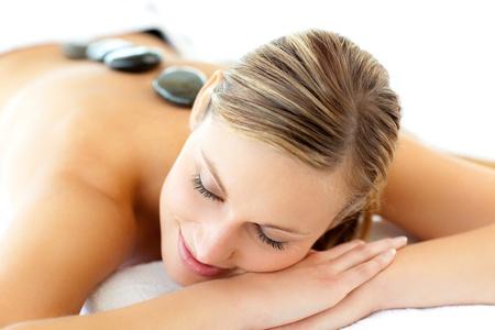 Pretty woman having a massage  photo