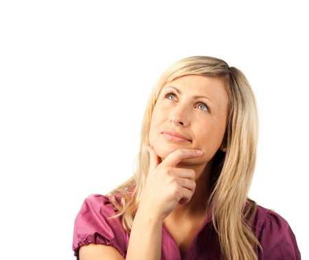Woman thining Pensively photo