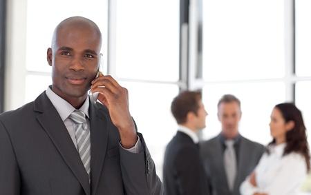 buisinessman: Businessman talking on cellphone