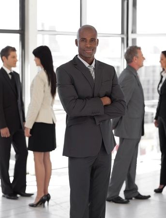 Concentrated ethnic business leader Stock Photo - 10114210